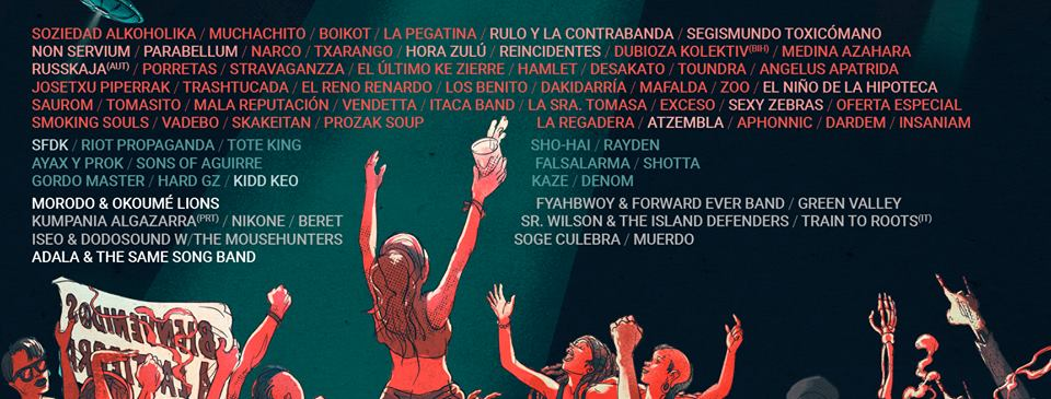 """ADELANTO DE CARTEL DEL FESTIVAL """"VIÑAROCK"""" 2018."""