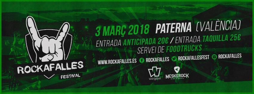 """8ª EDICION DEL FESTIVAL """"ROCKAFALLES"""" EN PATERNA (VALENCIA)."""