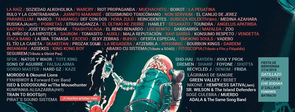 """FIESTA DE BIENVENIDA DEL FESTIVAL """"VIÑAROCK 2018""""."""