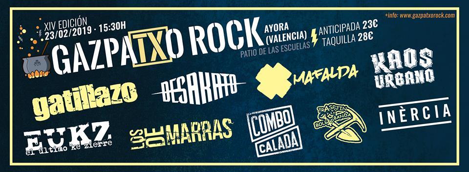 """XIV EDICIÓN DEL """"GAZPATXO ROCK FESTIVAL"""" EN AYORA (VALENCIA)."""