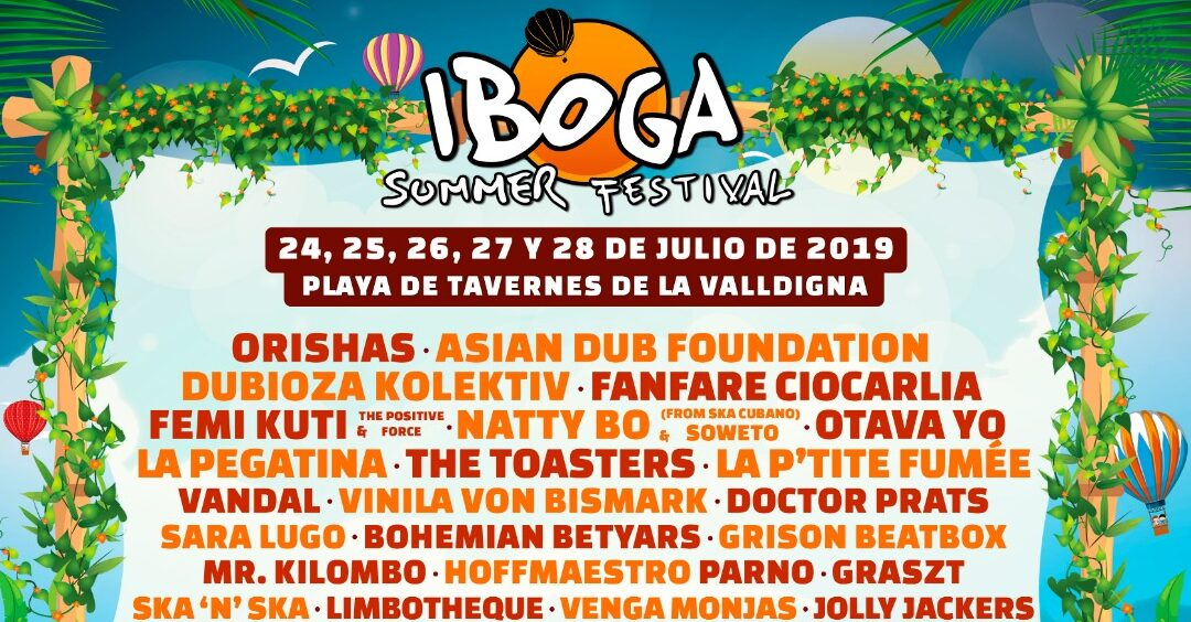 """PROGRAMACION COMPLETA DE TODAS LAS ZONAS DEL """"IBOGA SUMMER FESTIVAL 2019""""."""